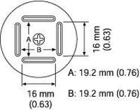 BQFP Nozzle  20 x 20 mm A1181B