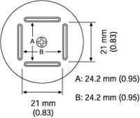 BQFP Nozzle  24 x 24 mm A1182B
