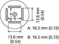 BQFP Nozzle  18 x 18 mm A1180B
