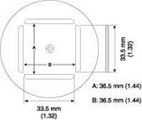 PLCC Nozzle  36 5 x 36 5 mm A1189B