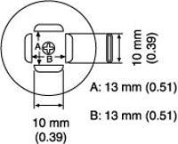 PLCC Nozzle  13 x 13 mm A1140B