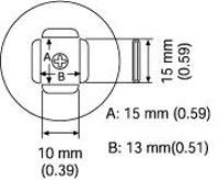 PLCC Nozzle  13 x 15 mm A1141B