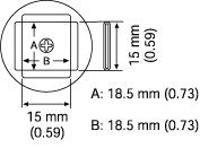 PLCC Nozzle  18 5 x 18 5 mm A1135B