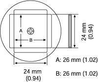 PLCC Nozzle  26 x 26 mm A1137B