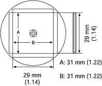 PLCC Nozzle  31 x 31 mm A1138B