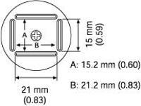 QFP Nozzle  15 2 x 21 2 mm A1128B