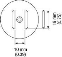 SOJ Nozzle  19 x 10 mm A1184B