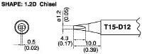 Chisel Soldering Tip T15 D12