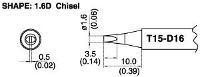 Chisel Soldering Tip T15 D16