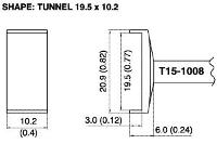 Tunnel Soldering Tip T15 1008