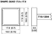 Quad Soldering Tip T15 1204