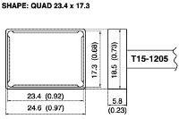 Quad Soldering Tip T15 1205