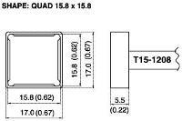 Quad Soldering Tip T15 1208