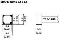 Quad Soldering Tip T15 1209