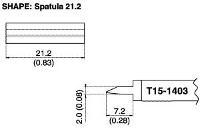 Long Blade Soldering Tip T15 1403