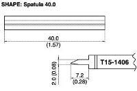 Long Blade Soldering Tip T15 1406