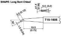 Bent Chisel Tip T15 1605