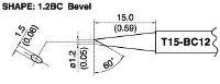 Bevel Soldering Tip T15 BC12
