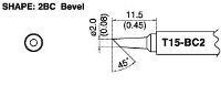 Bevel Soldering Tip T15 BC2