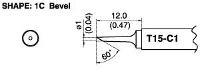 Bevel Soldering Tip T15 C1