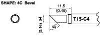 Bevel Soldering Tip T15 C4
