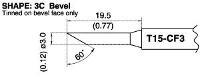 Bevel Tip T15 CF3