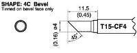 Bevel Tip T15 CF4