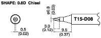 Chisel Soldering Tip T15 D08