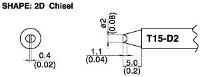 Chisel Soldering Tip T15 D2