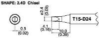 Chisel Soldering Tip T15 D24