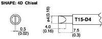 Chisel Soldering Tip T15 D4