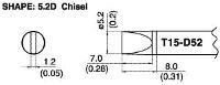 Chisel Soldering Tip T15 D52