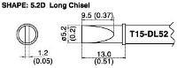Chisel Soldering Tip T15 DL52