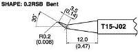 Bent Soldering Tip T15 J02