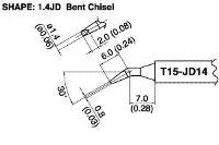 Bent Chisel Tip T15 JD14