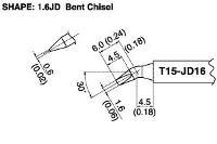 Bent Chisel Soldering Tip T15 JD16