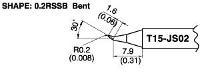 Bent Soldering Tip T15 JS02