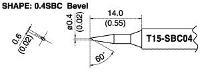 Bevel Soldering Tip T15 SBC04