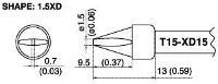 Chisel Soldering Tip T15 XD15
