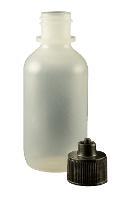 2 oz  Bottle LDPE Boston Round Black Cap JG2 0BC