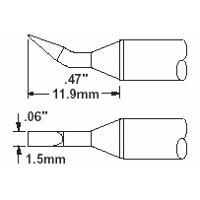 Cartridge  Chisel  Bent  1 5mm  0 06  STTC 099