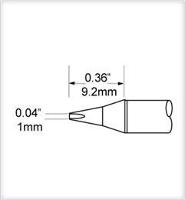 Chisel Cartridge  1mm  0 039    30 SCP CH10