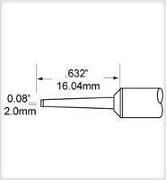 Chisel Cartridge  Long  1 57mm  0 062  SCP CHL20