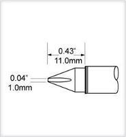 Chisel Tip  1mm  0 039  SCV CH10