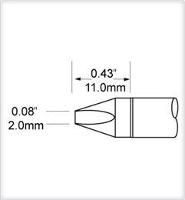Chisel Tip  2mm  0 079  SCV CH20