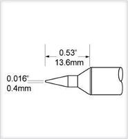 Conical Tip  Long  0 4mm  0 016  SCV CNL04