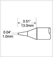 Conical Tip  Long  1mm  0 039  SCV CNL10