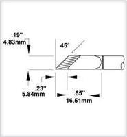 Cartridge  Knife  5 0mm   20    45 STTC 1173P