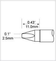 Chisel Tip  2 5mm  0 098  STV CH25