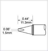 Chisel Tip  1 5mm  0 059  SFV CH15A